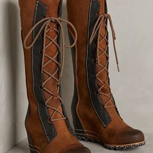 NWOT Sorel Cate The Great Wedge Boots 7.5